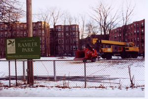 Future Home of Ramler Park taken January 2001